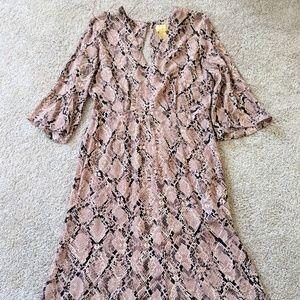 H&M Dresses - Pink Snake Print Dress